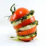 caprese salad with pesto